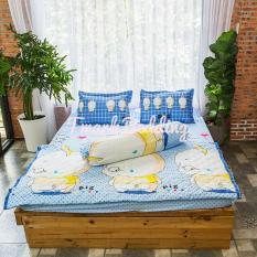 Bộ ga gối giường Cotton Poly Tmark (Lợn con)