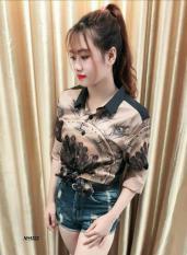 ÁO SƠ MI Nữ 3D PHI LỤA CAO CẤP STYLE FASHION MS106