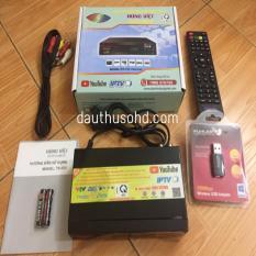 Đầu KTS mặt đất DVB – T2 HÙNG VIỆT TS 123 XEM YOUTUBE INTERNET – TẶNG USB WIFI
