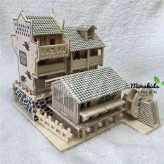 Đồ chơi lắp ráp gỗ 3D Mô hình Nhà cổ 01