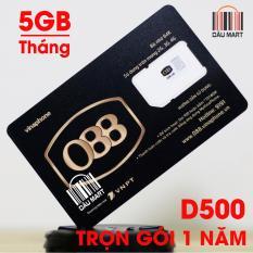 Giá SIM Vinaphone 4G D500 Tặng 5GB/Tháng Trọn Gói 1 Năm Tại Dâu Mart