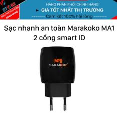 Sạc điện thoại Marakoko MA1, 2 cổng sạc nhanh Smart ID 5V/2.4A ( Max )