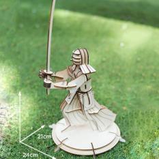 Đồ chơi lắp ráp gỗ 3D Mô hình Võ sỹ Samurai