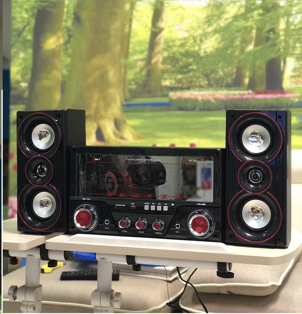 Dàn âm thanh Bluetooth USB Isky - SK335U 2 tại nhà - loa vi tính cỡ lớn hát karaoke có...