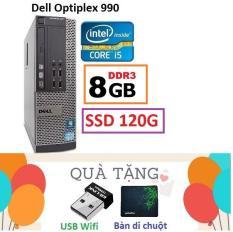 Đồng Bộ Dell Optiplex 990 Core i5 2400 / 8G / SSD 120G – Tặng USB Wifi , Bàn di chuột , Bảo hành 24 tháng