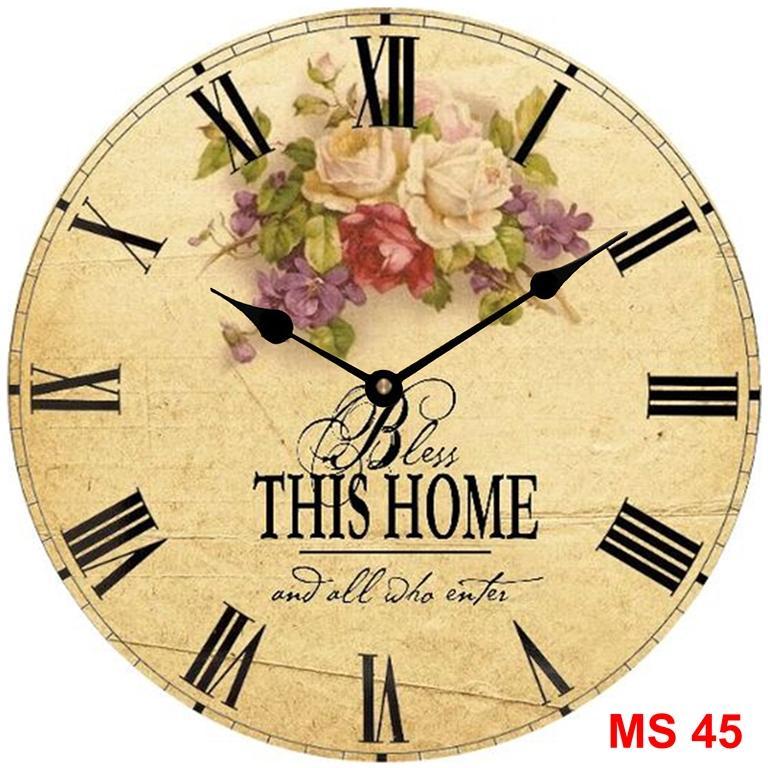 Đồng hồ treo tường phong cách cổ MS 45