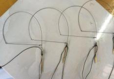 1 bộ Giò cu gáy thái lan ( 1 bộ 10 chân đồng , cáp đồng , dù siêu bền giá rẻ )