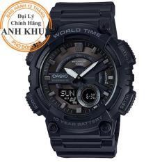 Đồng hồ nam dây nhựa Casio Anh Khuê AEQ-110W-1BVDF