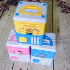 Két sắt mini đồ chơi tiết kiệm tiền cho bé