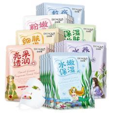 Bộ 10 mặt nạ dưỡng trắng da BioAqua mix nhiều vị chiết xuất từ thiên nhiên