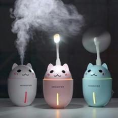Máy phun sương tạo ẩm tiện ích kiêm đèn ngủ và quạt mát 3 in 1