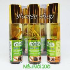 05 Dầu Sâm Ginseng Green Herb Oil Thái Lan (nhập khẩu) – 8ml x 5chai