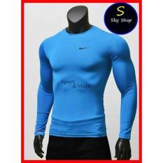 ⚡️[CHỈ 1 NGÀY] – Áo giữ nhiệt dài tay, áo tập gym,áo thu đông màu xanh dương!_M