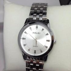 Đồng hồ nam halei 502 dây trắng mặt trắng