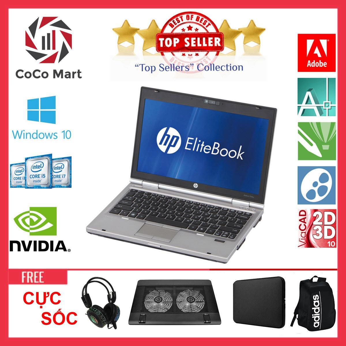 Laptop HP EliteBook 2560p Chạy CPU i7-2620M, 12.5inch, 16GB, SSD 120GB + Bộ Quà Tặng - Hàng Nhập Khẩu