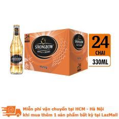 Thùng 24 chai nước táo lên men Strongbow Honey – Vị mật ong 330ml