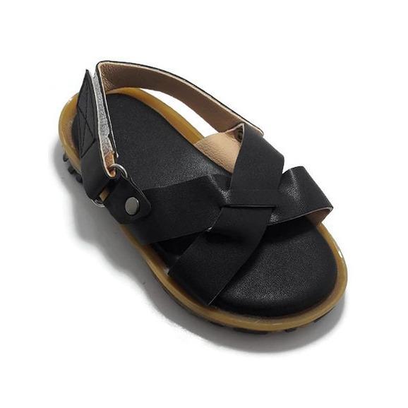 Sandal Bé Trai Quai Chéo Màu Đen Thời Trang