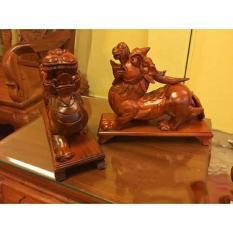 Tượng tỳ hưu bằng gỗ hương