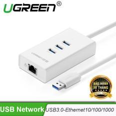 USB 3.0 kết hợp cổng Fast Ethernet 10/100Mbps (Chip REATEK) Ugreen CR102 20262 – Hãng phân phối chính thức