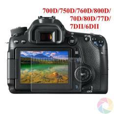 Kính cường lực cho máy ảnh Canon 70D/ 80D/ 700D/ 750D/ 760D/ 7DII/ 6DII/ 800D/ 77D