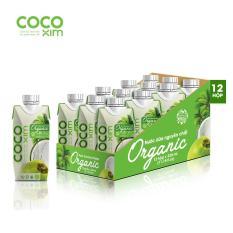 Thùng 12 hộp nước dừa Cocoxim organic 330ml