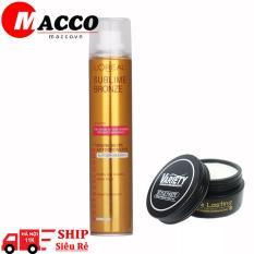 Sáp Vuốt Tóc Variety Matte Lasting 100g + Gôm Xịt Tóc xịt tóc vàng 320ml
