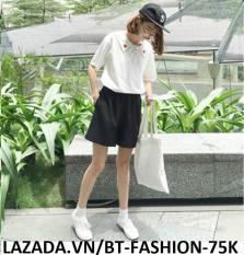 Quần Sọt Lững Nữ Ống Rộng – Dây Kéo Thời Trang Hàn Quốc – BT Fashion (SO)