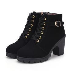 Giày Bốt Nữ Khóa Kéo Da Lộn,Bốt Gộc Da Lộn, Boot Da Lộn Cực Chất Gót Cao 7cm