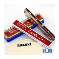 Kèn Harmonica Tremolo Suzuki Study 24 key C