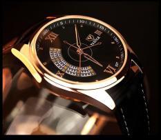 Đồng hồ nam dây da Yazole T337 NK226 (Đen)