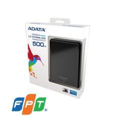 Ổ cứng gắn ngoài ADATA – 2,5″ HV620 500GB USB 3.0 Đen Phân phối chính hãng FPT