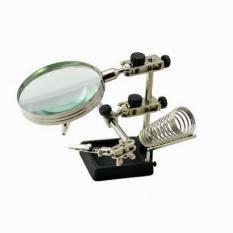 Giá để mỏ hàn kèm kính lúp