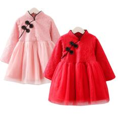 Váy ren diện tết nỉ lót lông đẹp sang chảnh cho bé Gái Hàng cao cấp Xuất Hàn. (Đầm, váy xòe bé gái mặc tết) VRN2018
