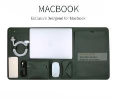 Combo tấm da lót bàn, túi chống sốc, đựng phụ kiện cho Macbook 13,3 inch