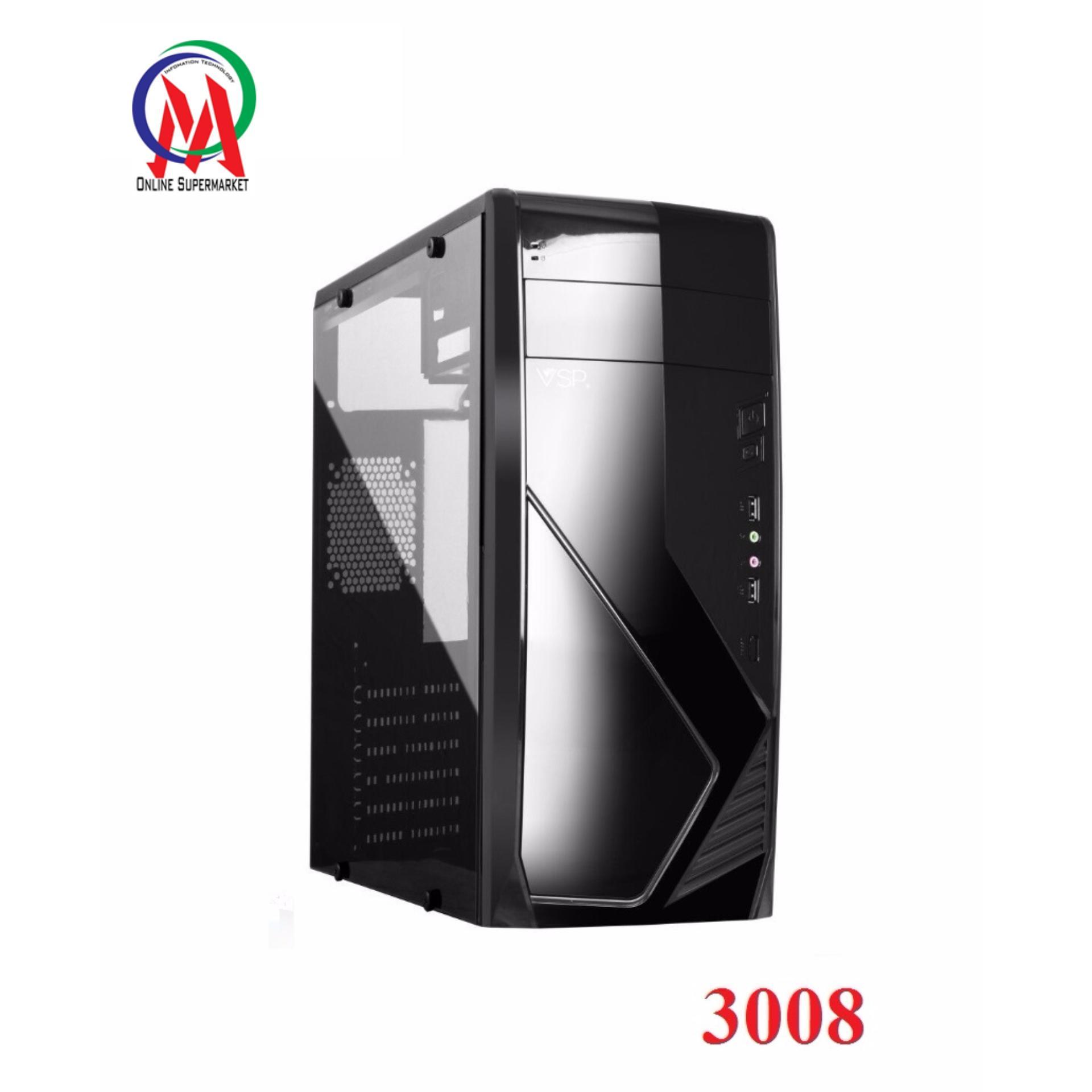 Đánh giá Vỏ Case máy tính VSP 3008 Full Kính bên hông trong suốt sơn tĩnh điện Tại IT-Onmart