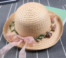 Mũ (nón) đi chơi cho bé gái M16 (Nâu nhạt)