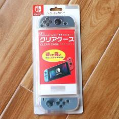 Ốp lưng TPU dẻo + case Joycon dẻo trong suốt cho Nintendo Switch