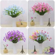 Combo 5 cành Hoa thủy tiên siêu đẹp -Hoa giả cành 24 bông nhỏ – hoa lụa cao cấp