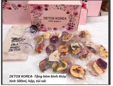 30 Gói Trà Detox hoa quả sấy khô, DETOX KOREA – Tặng kèm bìnhthủy tinh 500ml, hộp, túi vải [CÓ ẢNH THẬT]