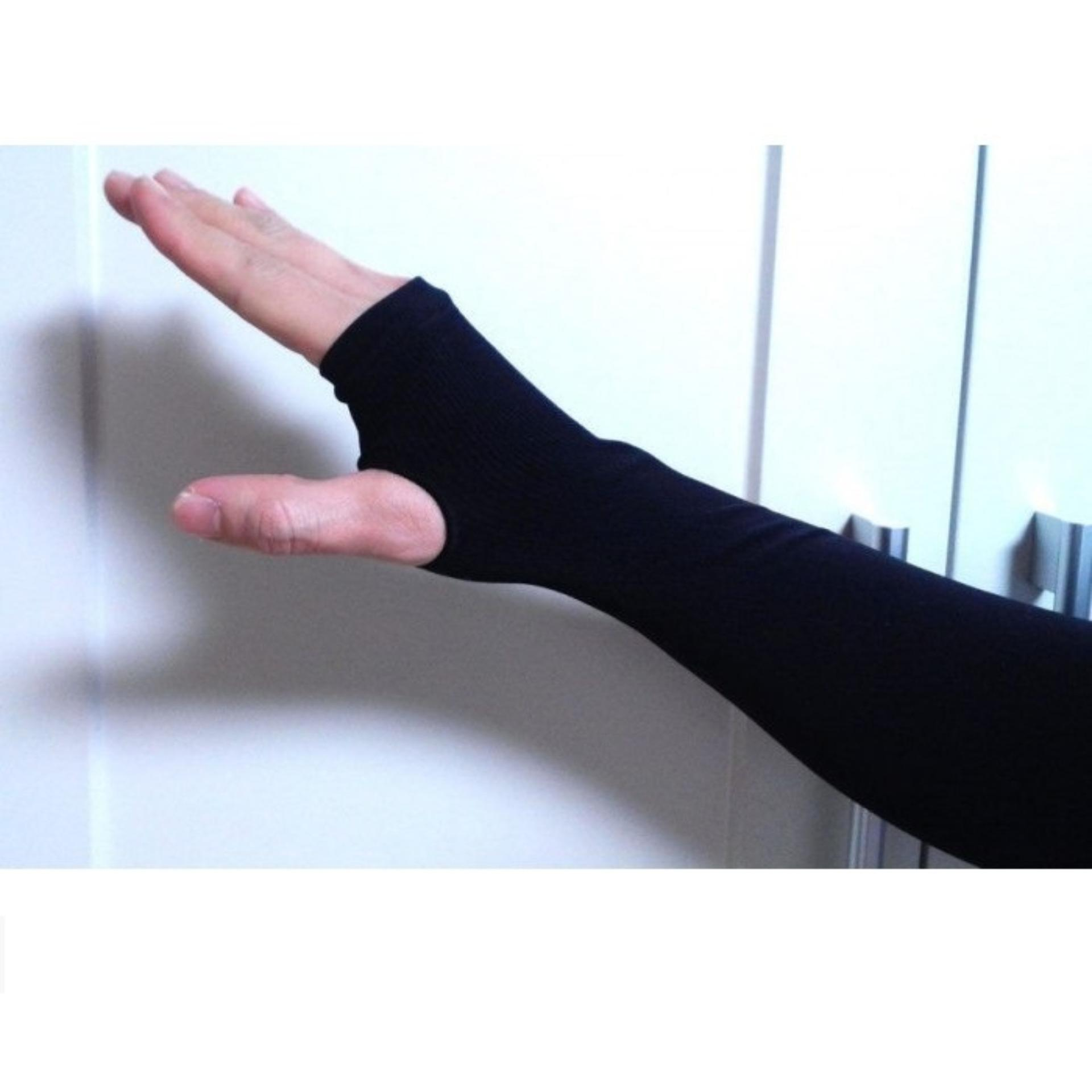 Găng tay chống nắng Letslim (Đen) 1000000206