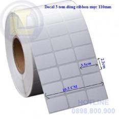 Decal mã vạch 3 tem ( 5 cuộn)