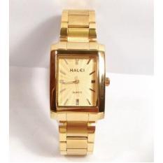 Đồng hồ nữ Halei mặt chữ nhật vàng kim cực đẹp