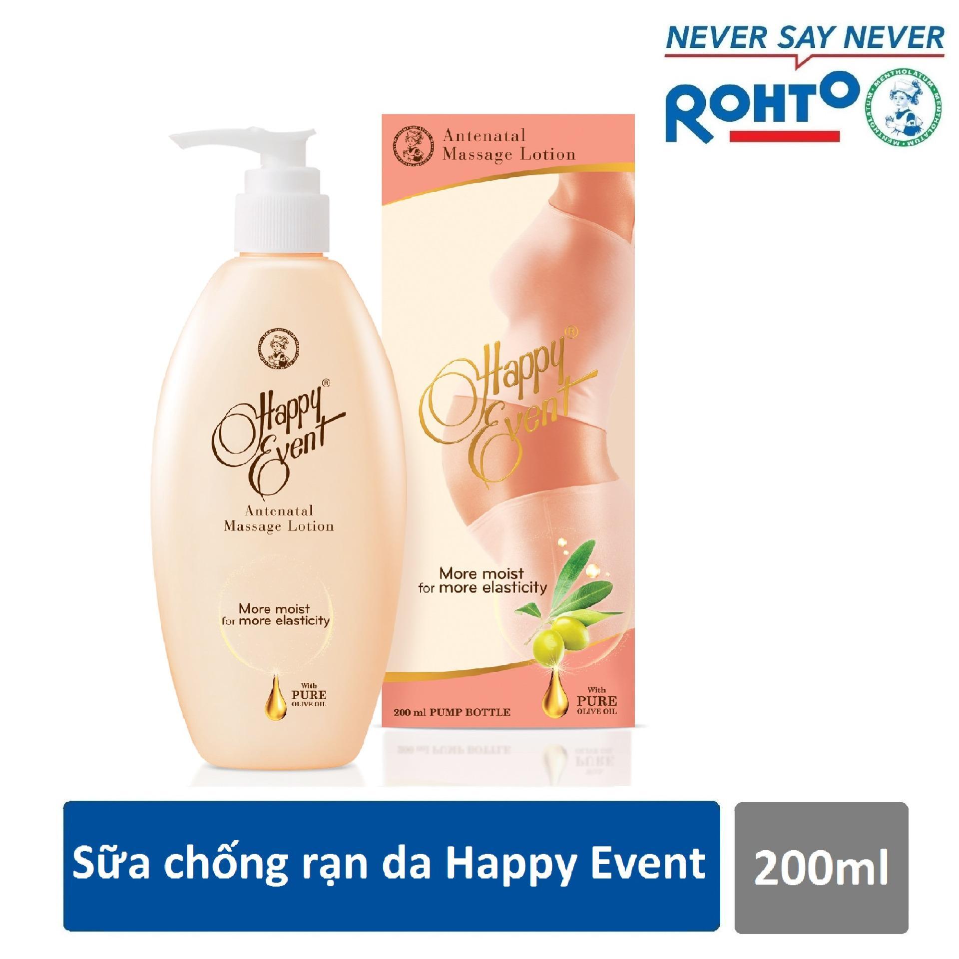 Sữa chống rạn da Happy Event 200ml - Cơ hội trúng giải thưởng 20 triệu