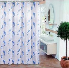 [HCM] Rèm nhà tắm PE – LOẠI TỐT dài 2m không thấm nước cỡ lớn, kèm vòng treo