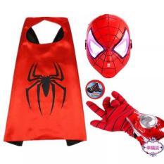 bộ áo choàng siêu nhân nhện kèm mặt nạ