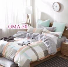 Ga chống thấm 100% cotton GoodMama 1m6x2mx10cm và 2 vỏ gối nằm 50x70cm không chống thấm