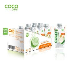 Thùng 12 hộp nước dừa Cocoxim vị tắc 330ml