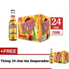 Thùng 24 chai bia Desperados hương vị Tequila 250ml tặng thùng 24 chai bia Desperados