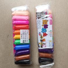 Đất sét Nhật (gói 12 màu) soft clay nguyên liệu slime