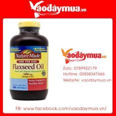 Dầu Hạt Lanh Omega 3 6 9 Nature Made Flaxseed Oil 1400mg 300 Viên Của Mỹ